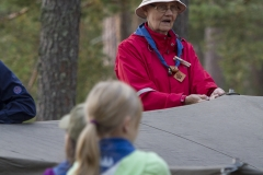 Leirimajoitteiden pystytyksessä PJ-telttojen kulmissa oli kokemusta...